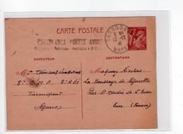 ENTIER IRIS CASABLANCA AVION SURTAXE 1 FRANC TAROUDANT MAROC LÉGION 3e REI 1941 GUERRE ST ANDRE EURE