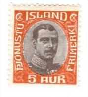 Iceland Scott   O42 Mint Hinged Fine - Iceland