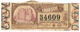 12920. Billete Loteria Nacional Y Casinos ESPAÑA 1947 - Lottery Tickets
