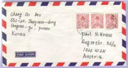 Airmail Letter Dongrae Korea To Vienna 1978 (328) - Korea (Süd-)