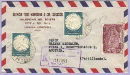 Airmail Registered Letter Caracas To Vienna Wien 1958 (331) - Venezuela