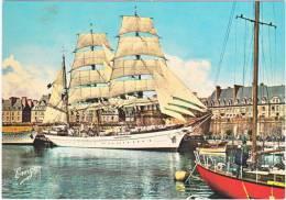 35. Cpsm. Gf. SAINT-MALO. Bassin Vauban. Le Trois-Mâts Gorch-Fock. 1310 - Saint Malo