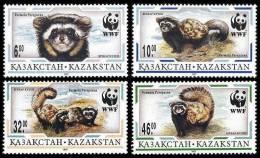 Kazakhstan 1997 - Petits Mammifères, Wwf - 4 Val Neufs // Mnh Set CV €6 - W.W.F.