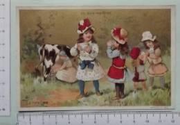 Chromo Fin 19° S. / Au Bon Marché / La Vache / Enfant Bol De Lait - Au Bon Marché