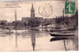 Morannes..belle Vue Du Bourg..la Sarthe..barques..batellerie - Sonstige Gemeinden