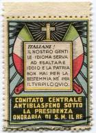 ERINNOFILO COMITATO CENTRALE ANTIBLASFEMO SOTTO LA PRESIDENZA ONORARIA DI S.M. IL RE - Cinderellas