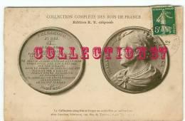 ACHAT IMMEDIAT - COLLECTION ROIS DE FRANCE - PORTRAIT Du ROI PHARAMOND En Médaille - MONNAIE -   DOS VISIBLE - Monnaies (représentations)