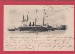 """SAINT NAZAIRE --> """" La Normandie """" Steamer De La C. G. T.  (Compagnie Générale Transatlantique) - Saint Nazaire"""