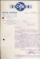 Factuur Brief BECKER - Esch Luxembourg 1947 - Luxembourg