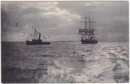 1610-Belgique-Marine Delft-Bateau Vapeur Et Voilier 3 Mats-Steam-Boat En Zeilboot 3 Mats-Ed Niels Serie 17 - Oostende