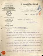 Factuur Facture  Lettre Brief H. Hommel - Mainz 1911 - Werkzeuge - Allemagne