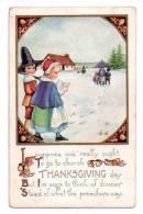 """FETES VOEUX : """"Thanksgiving Day...."""" - Enfants - Légèrement Gaufrée - Thanksgiving"""