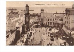 CPA   NB Maroc    5. Casablanca Place De La France Larade - Casablanca