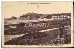 CPA Val Andre Le Jardin Public Et Les Falaises De Chateau Tangny - Pléneuf-Val-André