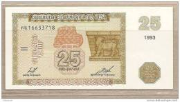 Armenia - Banconota Non Circolata Da 25 Dram- 1993 - Armenia