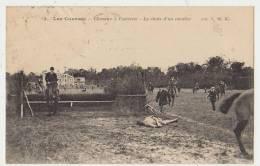 LES COURSES : LA CHUTE D'UN CAVALIER - ECRITE EN 1924 - 2 SCANS - - Horse Show