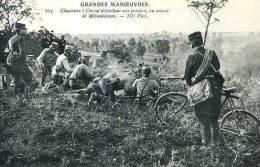 Grandes Manoeuvres Chasseurs A Cheval Defendant Une Position Au Moyen De Mitrailleuses - Guerre 1914-18