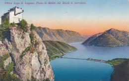 Schweiz Lago di Lugano Ponte di Melide dal Monte S Salvatore
