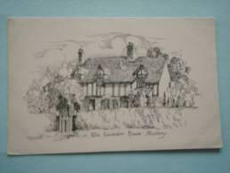 24071 PC: WARWICKSHIRE: The Lavender House, Shottery Near Stratford-upon-Avon. ARTIST's SKETCH: N.M.Ward. - Stratford Upon Avon