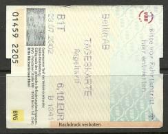Germany Deutschland Berlin Tageskarte One Day Ticket Unused - Season Ticket