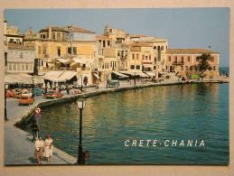 Peugeot 104, Audi 100, Vauxhall Viva Estate HB, VW Bus T2, Honda Camino, Crete Chania Vyronas - Voitures De Tourisme
