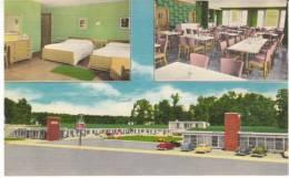 Burnside KY Kentucky, 7 Gables Motel Lodging, C1940s/50s Vintage Linen Postcard - United States