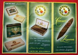 Dépliant Publicitaire Cigares Zigarren ERMURI Vendus Par Carl HEIL - Documents