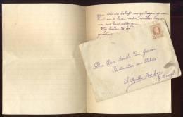 Berchem / St. Agatha Berchem Bij Brussel / Brief + Omslag Aan De Heer Emile Van Gerwen, Bestuurder Van Politie, 1927 - Historical Documents