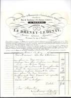Entête  13/05/1835  -  Le  DRENEY - Le  DENTU  Opticien Bijoutier  -  A La LUNETTE D' OR  Pour M. DE LA CHEVIERE - France