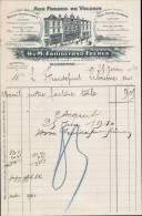 H. ET M. FROIDEMOND FRERES AUX FORGES DE VULCAIN A MARENNES / FACTURE DATEE 1910 - 1900 – 1949