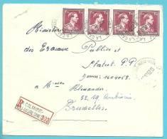 832 Op Brief Aangetekend Met Stempel  LA CALAMINE-NEU-MORESNET (Oostkantons) (cantons De L´Est) - 1936-1957 Collo Aperto