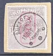 German Occupation Romania  KRIEGSTEUERMARKEN  6  On Piece  (o) - Occupation 1914-18