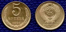 RUSSIE, USSR 5 Kopeks 1991 M. # 1739. - Rusland