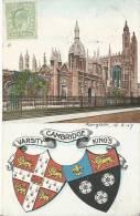 Cambridge Varsity King´s UK Post Card 1907 - Cambridge
