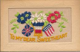 12 / 11 / 73    - CARTE BRODÉE -  To My Dear Sweetheart - Embroidered