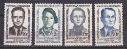 M2979 - FRANCE Yv N°1157/60 * Série Héros De La Résistance 1958 - Unused Stamps
