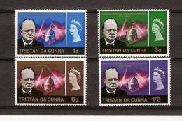 Tristan Da Cunha 1966 Yvertn° 89- 92 *** MNH Cote 135 FF Churchill - Tristan Da Cunha