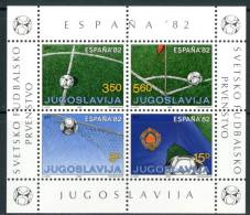 """JUGOSLAVIA 1982** - Mondiali Di Calcio """"Espana '82 -  Block MNH  Come Da Scansione - World Cup"""