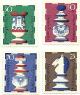 1972 - Germania 592/95 Scacchi, - Scacchi