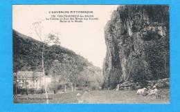 CPA -Chateauneuf-les-Bains- La Falaise En Face Des Hôtels Des Grands Bains Et La Sioule-63 Puy De Dôme - Autres Communes