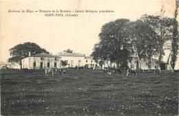 33 SAINT PAUL DOMAINE DE LA RIVALERIE LEONCE BELOUGNE PROPRIETAIRE - Autres Communes
