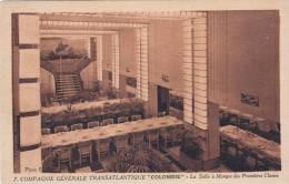 """Compagnie Générale Transatlantique """" Colombie """" - La Salle à Manger Des Premières Classes - Paquebots"""