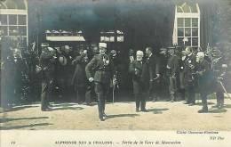 51 Alphonse XIII à CHALONS  Sortie De La Gare De MOURMELON - Camp De Châlons - Mourmelon
