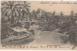 CPA INDONESIE INDONESIA BATAVIA Kali Passir Canal Timbre Stamp 1904 - Indonésie