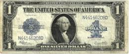USA UNITED STATES $1 SILVER CERTIFICATE BLUE SEAL SERIES 1923 F+ P342 READ DESCRIPTION CAREFULLY !!! - Silver Certificates (1878-1923)