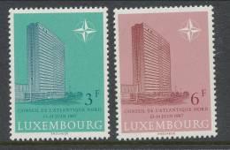 1967 Europa CEPT, NATO Issues, Luxemburg, Mi 751-752, MNH** - 1967