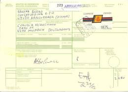 1993 ATM Packetkarte Nach Deutschland 1875 Pesetas Frankatur!! - 1991-00 Brieven