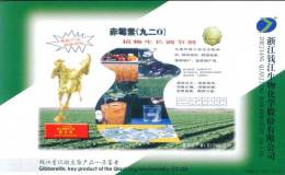 Gibberellin , Qianjiang Biochemistry Co.  ,   Prepaid Card, Postal Stationery - Chemie