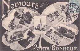 CPA 77 NEMOURS, Porte-Bonheur. (multivues) 1906. - Nemours