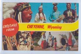 GREETINGS FROM CHEYENNE, WYOMING - Etats-Unis